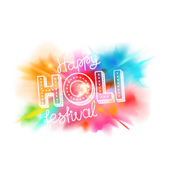 happy holi festival banner greeting card party vector image