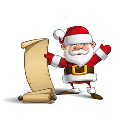 Happy Santa Gift List vector image