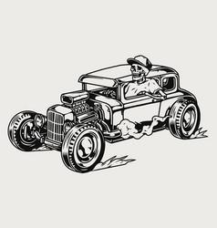 Hot rod retro car concept vector