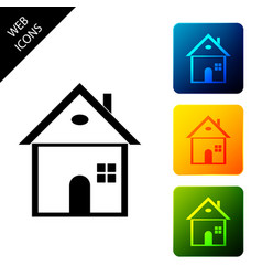 house icon isolated home symbol set icons vector image