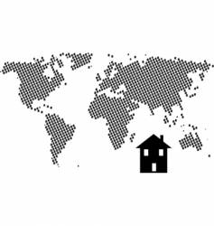 house world vector image vector image