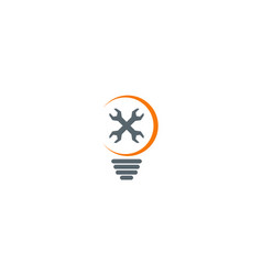 Idea maintenance light bulb logo vector