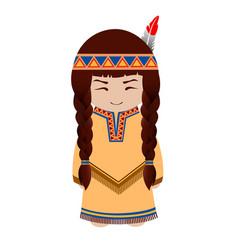 indian girl redskin vector image