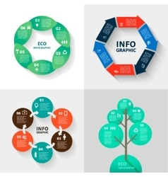 Infographics set - eco and business vector