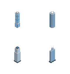 Isometric skyscraper set of business center tower vector