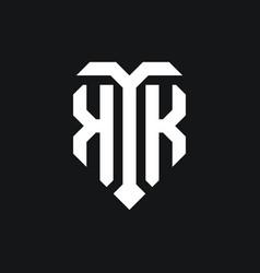 Kk logo monogram design template vector
