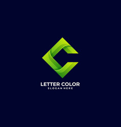 logo abstract letter c gradient colorful style vector image