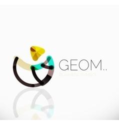 Logo linear abstract geometric icon vector