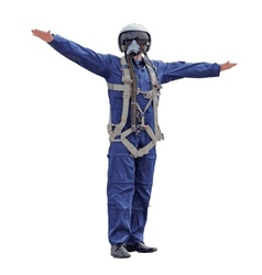 Man dressed a pilot on a white background vector image vector image