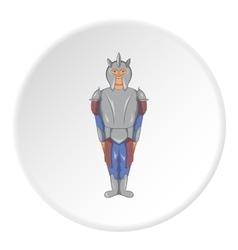 Medieval warrior icon cartoon style vector