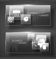 Modern business horizontal banners vector