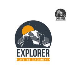mountain explorer logo vector image