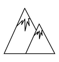 Mountains landscape icon vector image vector image