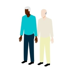 Old gay isometric couple vector