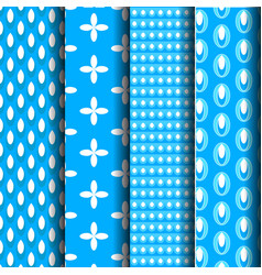 pattern blue vector image