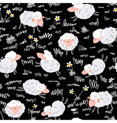 Pattern with sheep vector