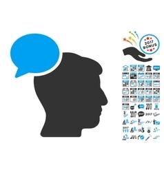 Person Idea Icon With 2017 Year Bonus Symbols vector