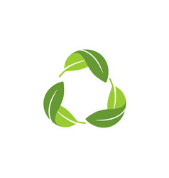 recycle leaf green logo vector image