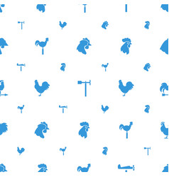 Rooster icons pattern seamless white background vector
