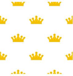 royal crown pattern flat vector image