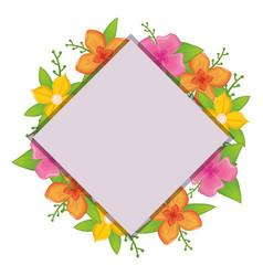 Rustic floral design vector