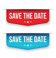 Save the Date ribbon vector image