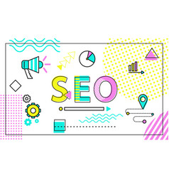 Seo tool for site promotion and better visibility vector