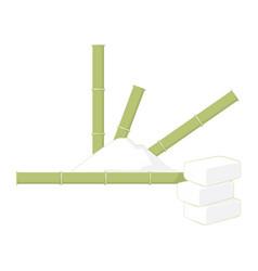 sugar cane with sugar vector image