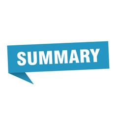 Summary vector