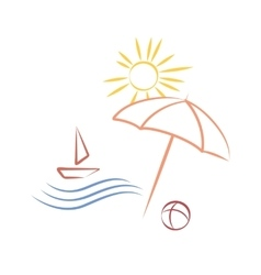 summer time icon vector image
