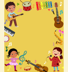 template advertising background in music concept vector image