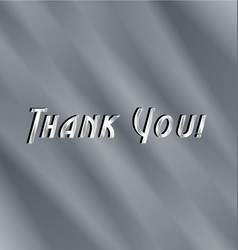Thank you text background vector