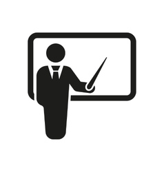 The teacher icon Training and presentation vector