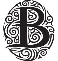 Tribal style letter vector