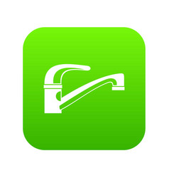 water tap icon digital green vector image