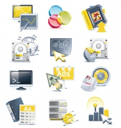 website development icon set vector image