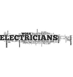 what electricians can do text word cloud concept vector image