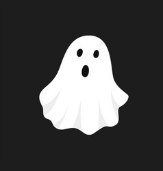 white ghost halloween vector image