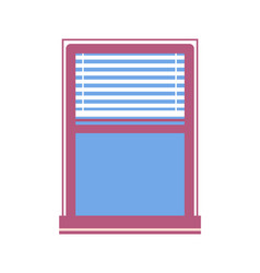 window half-closed jalousie vector image