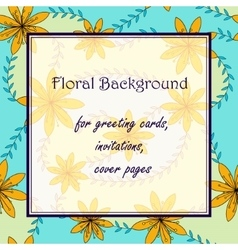 Yellow flowers with stamens background vector