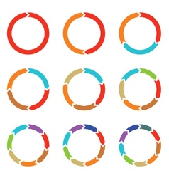 Circle arrows for infographic vector image vector image