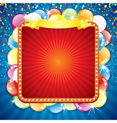 colorful festive billboard vector image vector image