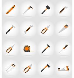 repair tools flat icons 17 vector image