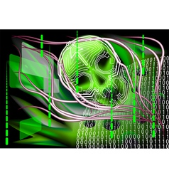 scary technology vector image vector image