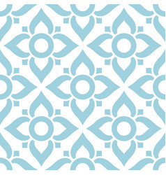 thai seamless pattern with flowers - tiled design vector image vector image