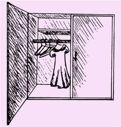 wardrobe clothes vector image