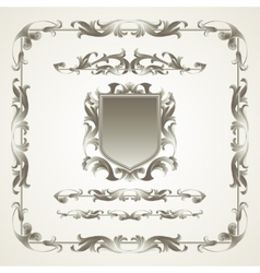 Antiquated ornate patterns vector image