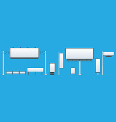 billboard flat set of different perspectives vector image
