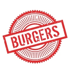 Burgers stamp rubber grunge vector image