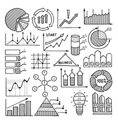 business of charts graphics and vector image